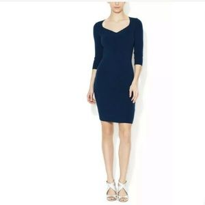 NWT WOLFORD M Ivy Ribbed Knit Wool Bodycon Dress